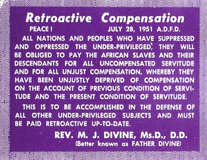 Retroactive compensation